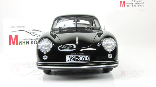 PORSCHE 356 COUPE (Autoart) [1950г., Черный, 1:18]