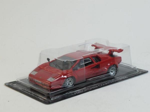 Lamborghini Countach LP500S (DeAgostini (Суперкары мира)) [1982г., Красный, 1:43]