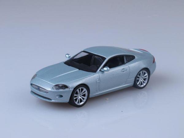 Jaguar XK Coupe (DeAgostini (Суперкары мира)) [1996г., Серебристый металлик, 1:43]