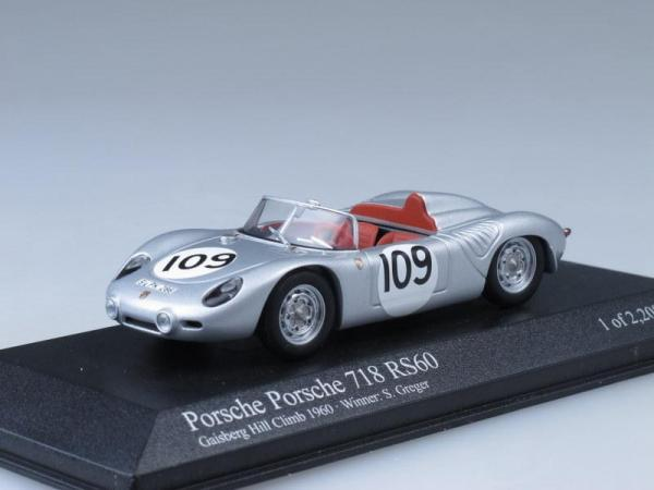 Porsche 718 RS60 (Minichamps) [1960г., Серебристый, 1:43]