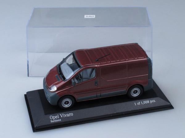 Opel Vivaro Delivery (Minichamps) [2001г., Вишневый, 1:43]