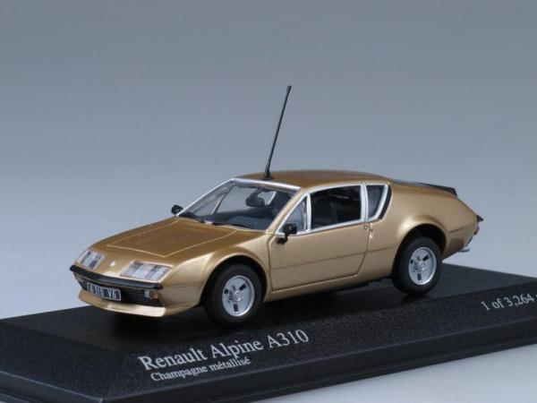 Renault Alpine A310 (Minichamps) [1976г., Медный, 1:43]