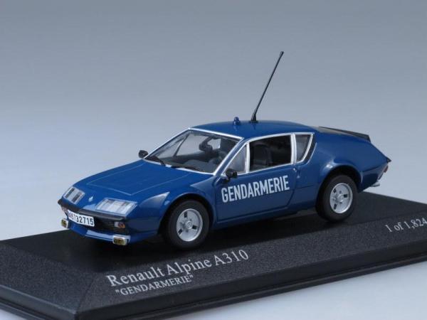 "Renault Alpine A310 ""жандармерия"" (Minichamps) [1976г., Синий, 1:43]"