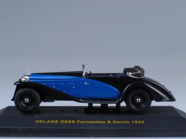 Delage D8SS Fernandez & Darrin (IXO) [1932г., Черный, синий, 1:43]