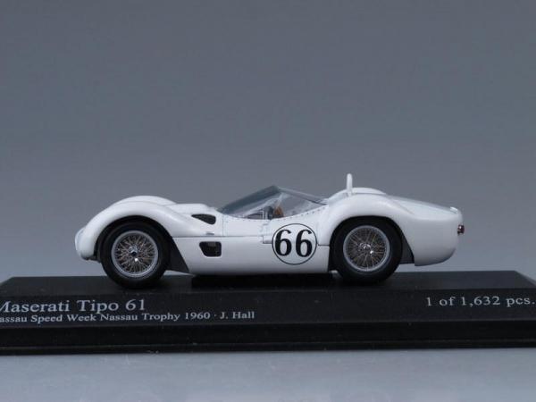 Maserati Tipo 61 (Minichamps) [1960г., Белый, 1:43]