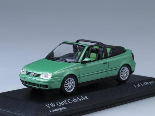 Volkswagen Golf Cabriolet (Minichamps) [1991г., Светло-зеленый металлик, 1:43]
