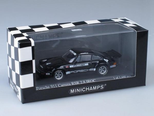 Porsche 911 Carrera RSR 2.8 IROC (Minichamps) [1973г., Черный, 1:43]