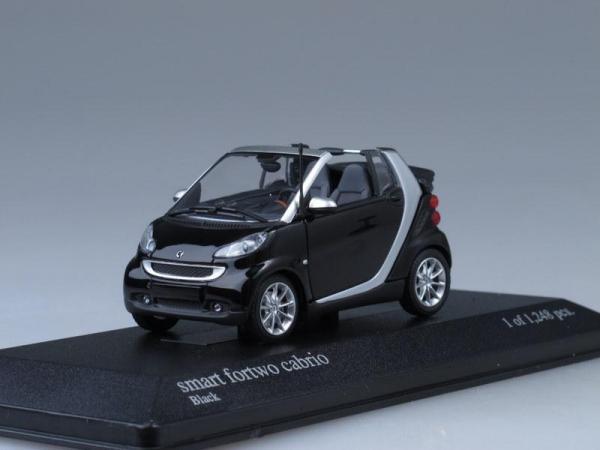 Smart fortwo cabriolet (Minichamps) [2007г., Черный, 1:43]