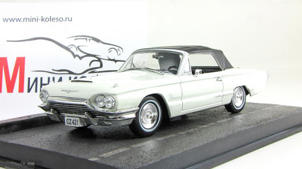Ford Thunderbird - Джэймс Бонд «Goldfinger» (Atlas/IXO) [1965г., белый/черный, 1:43]