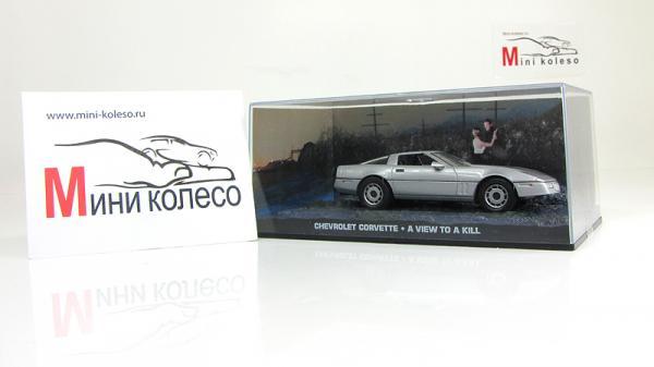 Chevrolet Corvette James Bond «A View to a Kill» (Atlas/IXO) [1983г., Серебристый, 1:43]