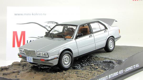 Maserati Biturbo 425 James Bond (Atlas/IXO) [1989г., Серебристый, 1:43]