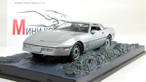 Chevrolet Corvette James Bond «A View to a Kill» (Atlas/IXO) [1983г., Серебристый, 1:43]