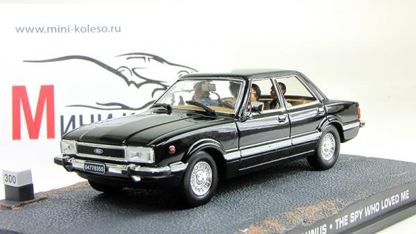 Ford Taunus James Bond 007 «The Spy Who Loved Me» (Atlas/IXO) [1976г., Черный, 1:43]