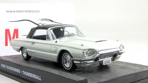 Ford Thunderbird - Джэймс Бонд «Goldfinger» (Atlas/IXO) [1965г., белый/черный, 1:43]