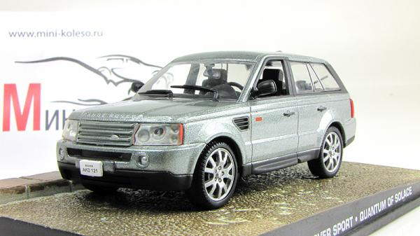 Range Rover Sport - Джэймс Бонд 007 «Quantum Of Solace» (Atlas/IXO) [2005г., Серебристый, 1:43]
