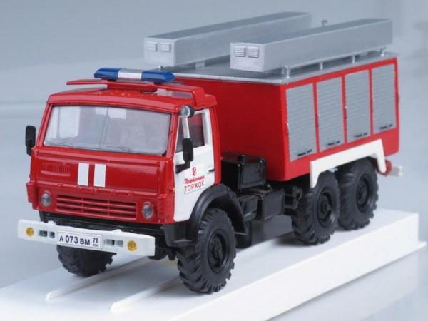 ПНС-110 Пожарная насосная станция (на базе КамАЗ-43114) (ЛОМО-АВМ) [2003г., Красный с белым, 1:43]