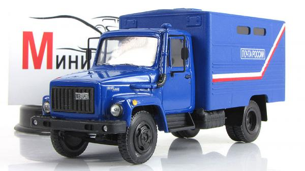 "ГАЗ-3307 ""Почта России"" (Kherson-Model) [1992г., Синий, 1:43]"