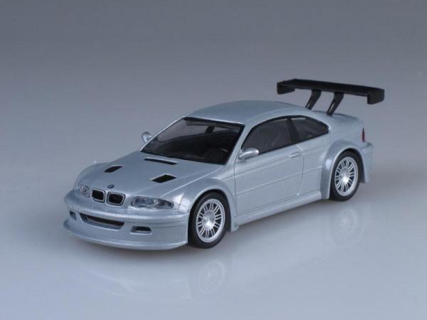 BMW M3 GTR (DeAgostini (Суперкары мира)) [2000г., Серебристый металлик, 1:43]