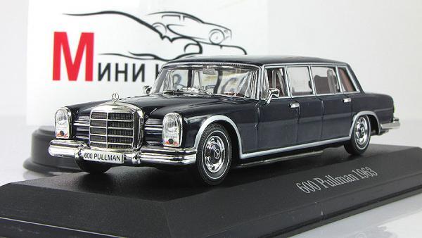 MERCEDES-BENZ 600 pullman (Altaya/IXO) [1963г., Синий, 1:43]