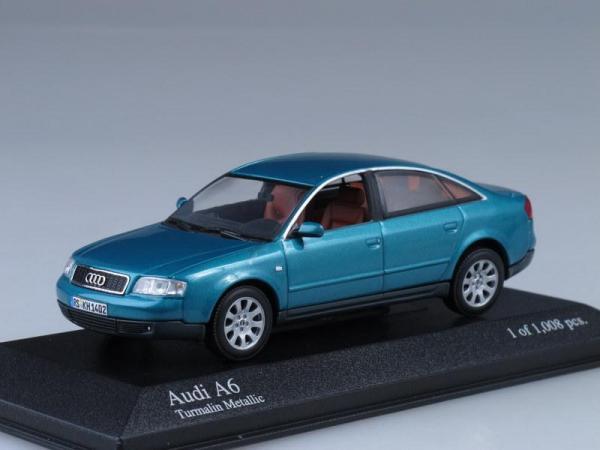 Audi A6 (Minichamps) [1994г., Бирюзовый, 1:43]