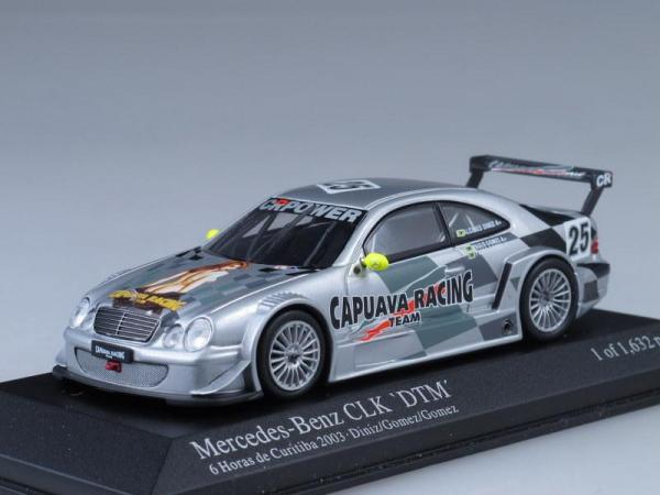 Mercedes CLK Coupe Cauava Racing Team 6h de Curitiba (Minichamps) [2003г., Серебристый металлик, 1:43]