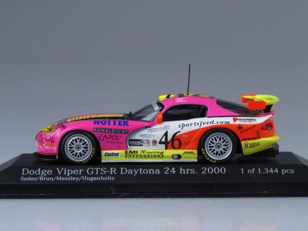 Dodge Viper GTS-R Daytona (Minichamps) [2000г., Желтый, розовый, 1:43]