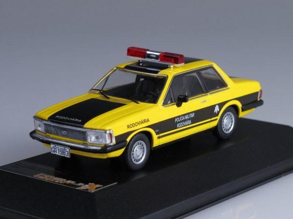FORD DEL REY Policia Militar Rodoviaria Federal (Premium X) [1982г., Желтый с черным, 1:43]