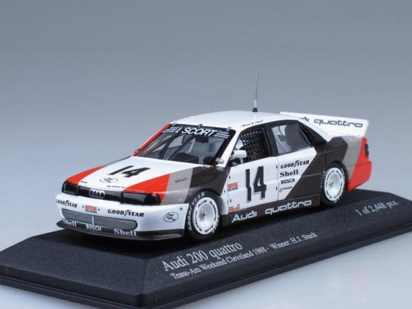 Audi 200 quattro Trans-Am Weekend Cleveland (Minichamps) [1979г., Белый, черный, 1:43]