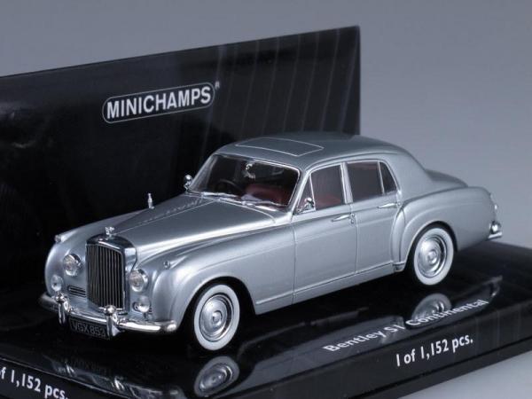 Bentley Continental S1 (Minichamps) [1956г., Серебристый металлик, 1:43]