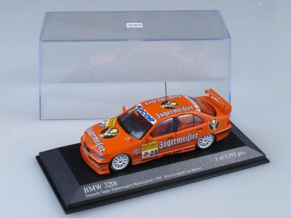 BMW 320i STW 1998 Team Isert Prinz Leopold von Bayern (Minichamps) [1998г., Оранжевый, 1:43]
