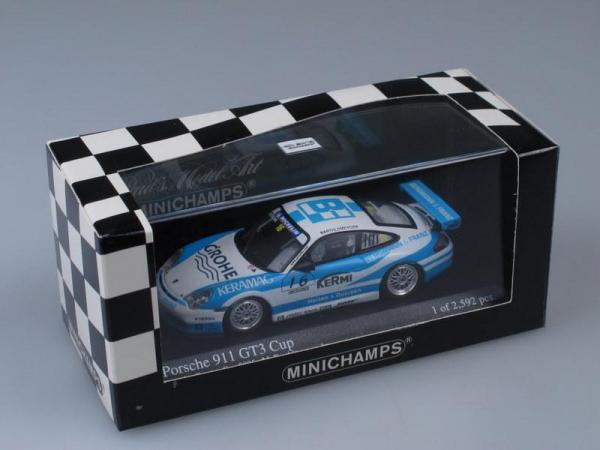 Porsche 911 GT3 Cup Carrera Cup 2005 M. Barthlomeyczik (Minichamps) [2005г., Бело-голубой, 1:43]