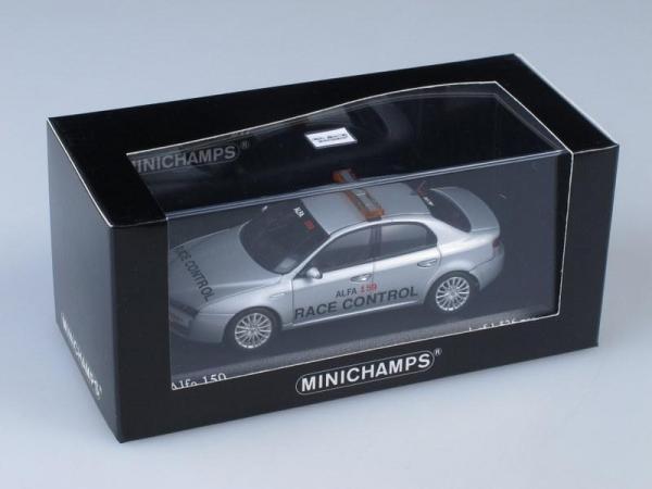 "Alfa Romeo 159 ""Race Control"" (Minichamps) [2006г., Серебристый металлик, 1:43]"
