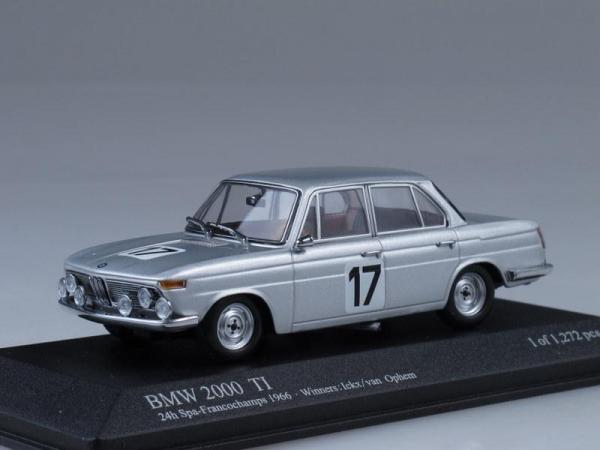 BMW 2000 Ti Winners 24h Spa-Francochamps (Minichamps) [1966г., Серебристый металлик, 1:43]