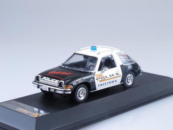 AMC PACER X - Freetown DARE Police (Premium X) [1975г., Черный и белый, 1:43]