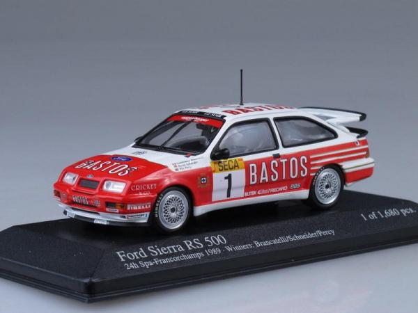 Ford Sierra RS500 Winers 24h Spa 89 Percy/Schneider Brancatelli (Minichamps) [1982г., Бело-красный, 1:43]