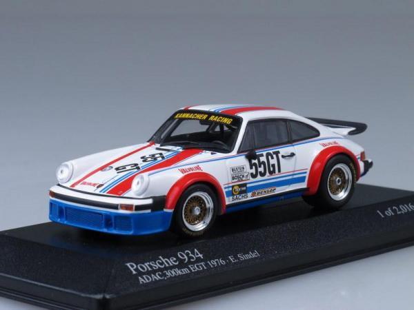 Porsche 934 Eberhard Sindel (Minichamps) [1976г., Белый, голубой, краный, 1:43]