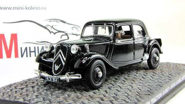 Citroen Traction Avant James Bond 007 «From Russia with Love» (Atlas/IXO) [1963г., Черный, 1:43]