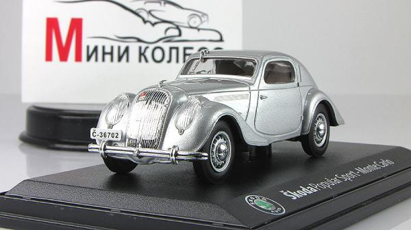 Skoda Popular Sport Monte-Carlo (Abrex) [1935г., Серебристый, 1:43]