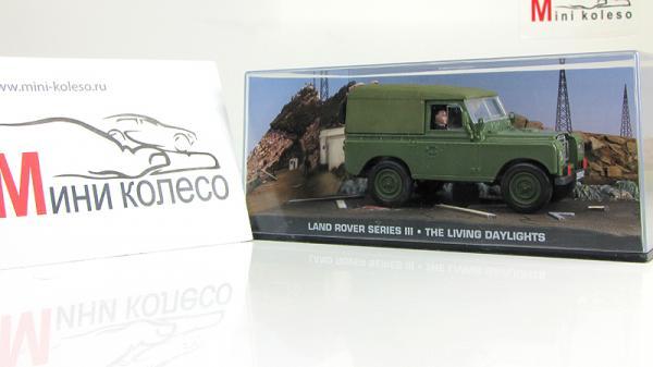 Land Rover Series III James Bond «The Living Daylights» (Atlas/IXO) [1971г., Зеленый, 1:43]