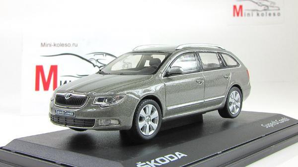 Skoda Superb II Combi (Abrex) [2008г., Серый, 1:43]