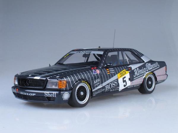 Mercedes-Benz 500 SEC AMG №5 24h Race Spa Franchorchamps (Autoart) [1989г., Черный, 1:18]