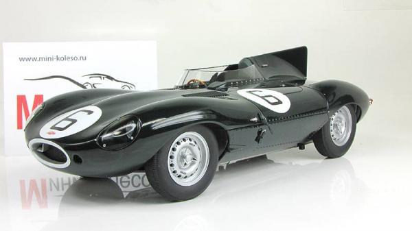 Jaguar D-Type LeMans 24 Hr Race 1955 Winner J.M.Hawthorn/I.L.Bueb №6 (Autoart) [1954г., Зеленый, 1:18]