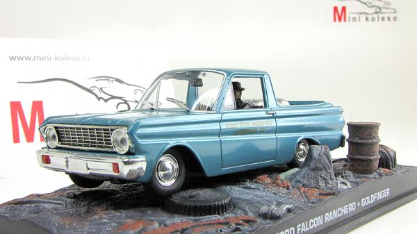 Ford Falcon Ranchero James Bond 007 «Goldfinger» (Atlas/IXO) [1957г., морская волна, 1:43]