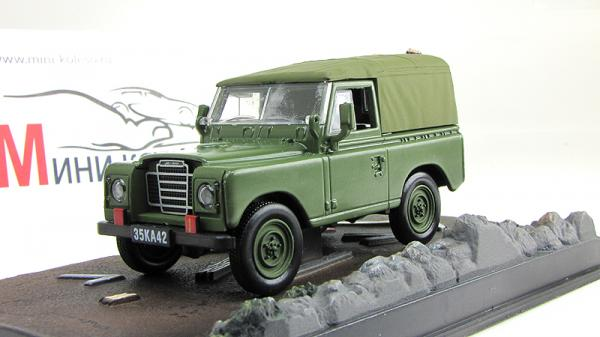 Land Rover Series III James Bond «The Living Daylights» (Atlas/IXO) [1971г., Зеленый, 1:43]
