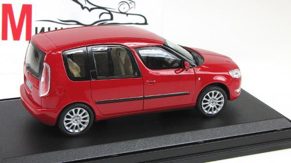 Skoda Roomster II FL (Abrex) [2006г., Красный, 1:43]