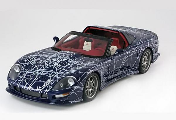 Chevrolet Callaway C12 IVM Automotive Art Car (Autoart) [1993г., Темно-синий, 1:18]