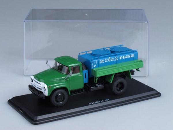 ЗИЛ-130 АЦЖР перевозка живой рыбы (Start Scale Models (SSM)) [1962г., Зеленый и голубой, 1:43]