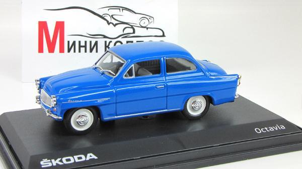Skoda Octavia (Abrex) [1964г., Голубой, 1:43]