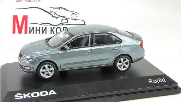 Skoda Rapid (Abrex) [2012г., Серый, 1:43]