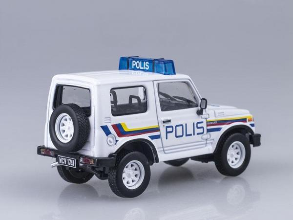 Suzuki Samurai, полиция Малайзии (DeAgostini (Полицейские машины мира)) [1969г., Белый, 1:43]